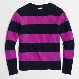 J Crew Wide Stripe Sweater